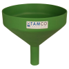 "10"" Top Diameter Green Tamco® Funnel with 1-1/2"" OD Spout"