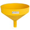 "15"" Top Diameter Yellow Tamco® Funnel with 2"" OD Spout"