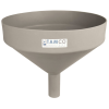 "15"" Top Diameter Light Gray Tamco® Funnel with 2"" OD Spout"