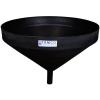 "26"" Top Diameter Black Tamco® Funnel with 1-3/4"" OD Spout"