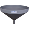 "26"" Top Diameter Light Gray Tamco® Funnel with 1-3/4"" OD Spout"