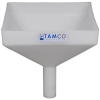 "10"" Square Natural Tamco® Funnel with 1-1/2"" OD Spout"