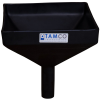 "10"" Square Black Tamco® Funnel with 1-1/2"" OD Spout"