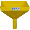 "10"" Square Yellow Tamco® Funnel with 1-1/2"" OD Spout"