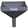 "10"" Square Light Gray Tamco® Funnel with 1-1/2"" OD Spout"