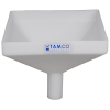 "12"" Square Natural Tamco® Funnel with 2"" OD Spout"