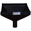 "12"" Square Black Tamco® Funnel with 2"" OD Spout"