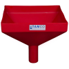 "12"" Square Red Tamco® Funnel with 2"" OD Spout"