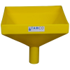 "12"" Square Yellow Tamco® Funnel with 2"" OD Spout"