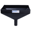"12"" x 8"" Rectangular Black Tamco® Funnel with 1-1/2"" OD Center Spout"
