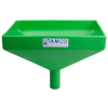 "12"" x 8"" Rectangular Green Tamco® Funnel with 1-1/2"" OD Center Spout"