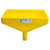 "12"" x 8"" Rectangular Yellow Tamco® Funnel with 1-1/2"" OD Center Spout"