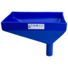 "12"" x 8"" Rectangular Blue Tamco® Funnel with 1-1/2"" OD Offset Spout"