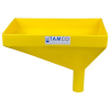 "16"" x 10"" Rectangular Yellow Tamco® Funnel with 2"" OD Offset Spout"