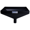 "20"" x 13"" Rectangular Black Tamco® Funnel with 2-1/2"" OD Center Spout"