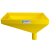 "20"" x 13"" Rectangular Yellow Tamco® Funnel with 2-1/2"" OD Offset Spout"