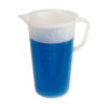 "3000mL Graduated Pitcher with Handle - 5-3/4"" Top ID x 10.5"" H"