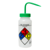 500mL (16 oz.) Scienceware® 70% Ethanol Wide Mouth Safety-Labeled Wash Bottle with Green 53mm Cap