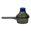 15cc Red Polypropylene Scoop with Attached Funnel & Cap