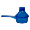 15cc Blue Polypropylene Scoop with Attached Funnel & Cap