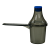 30cc Black Polypropylene Scoop with Attached Funnel & Cap