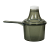 90cc Black Polypropylene Scoop with Attached Funnel & Cap