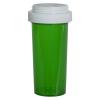30 Dram Green Vial with Reversible Cap