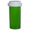 40 Dram Green Vial with Reversible Cap