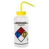 1000mL (32 oz.) Scienceware® Isopropanol Wide Mouth Safety-Labeled Wash Bottle with Yellow 53mm Cap