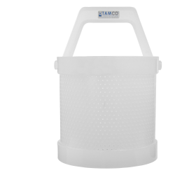 "8"" x 8"" Dipping Basket with 1/8"" Perforation"
