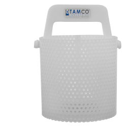 "6"" x 6"" Dipping Basket with 3/16"" Perforation"