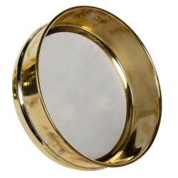 63 µm Stainless Steel Mesh Brass Testing Sieve