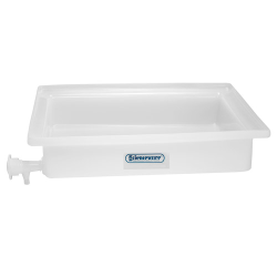 "18"" L x 22"" W x 4"" H General Purpose Tray with Faucet"