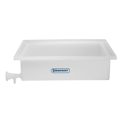 "17-1/2"" L x 23-1/2"" W x 6"" H General Purpose Tray with Faucet"