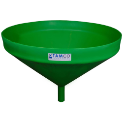 "26"" Top Diameter Green Tamco® Funnel with 1-3/4"" OD Spout"