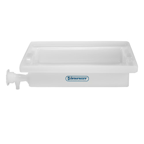 "12"" L x 16"" W x 3"" H General Purpose Tray with Faucet"