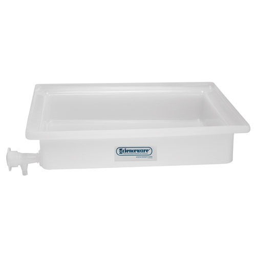 "16"" L x 20"" W x 3"" H General Purpose Tray with Faucet"