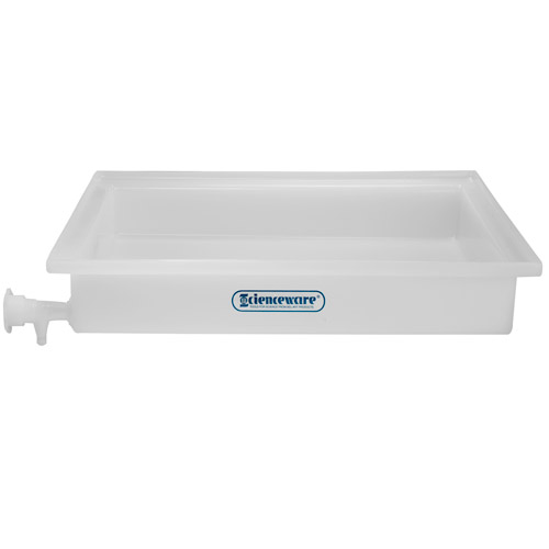 "21-1/2"" L x 25-1/2"" W x 4"" H General Purpose Tray with Faucet"
