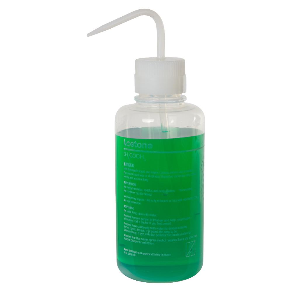 500mL Acetone Nalgene™ Right-to-Understand FEP Wash Bottle