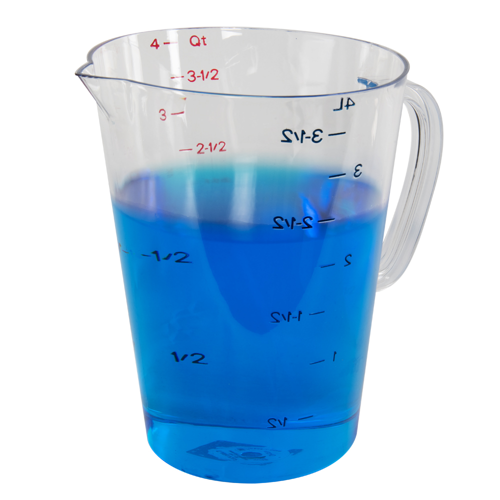 1 Gallon Clear Commercial Measuring Cup