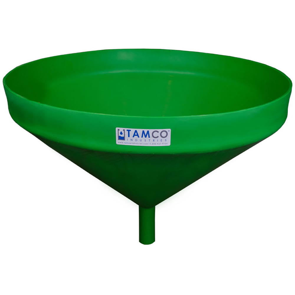 """26"""" Top Diameter Green Tamco® Funnel with 1-3/4"""" OD Spout"""