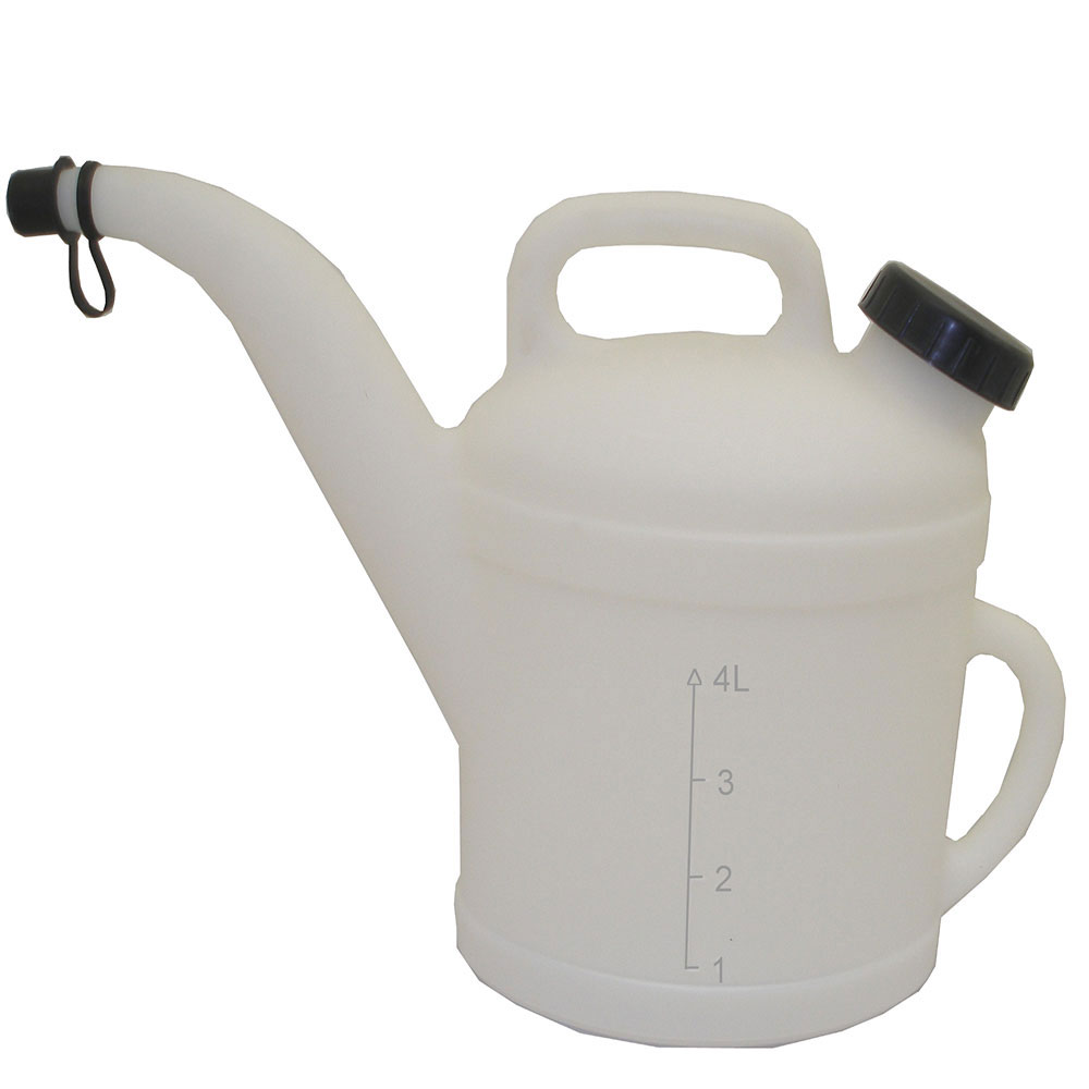 "6 Liter Natural HDPE Pitcher            11 1/2"" D x 11 3/4"" L-Spout x 13"" H"