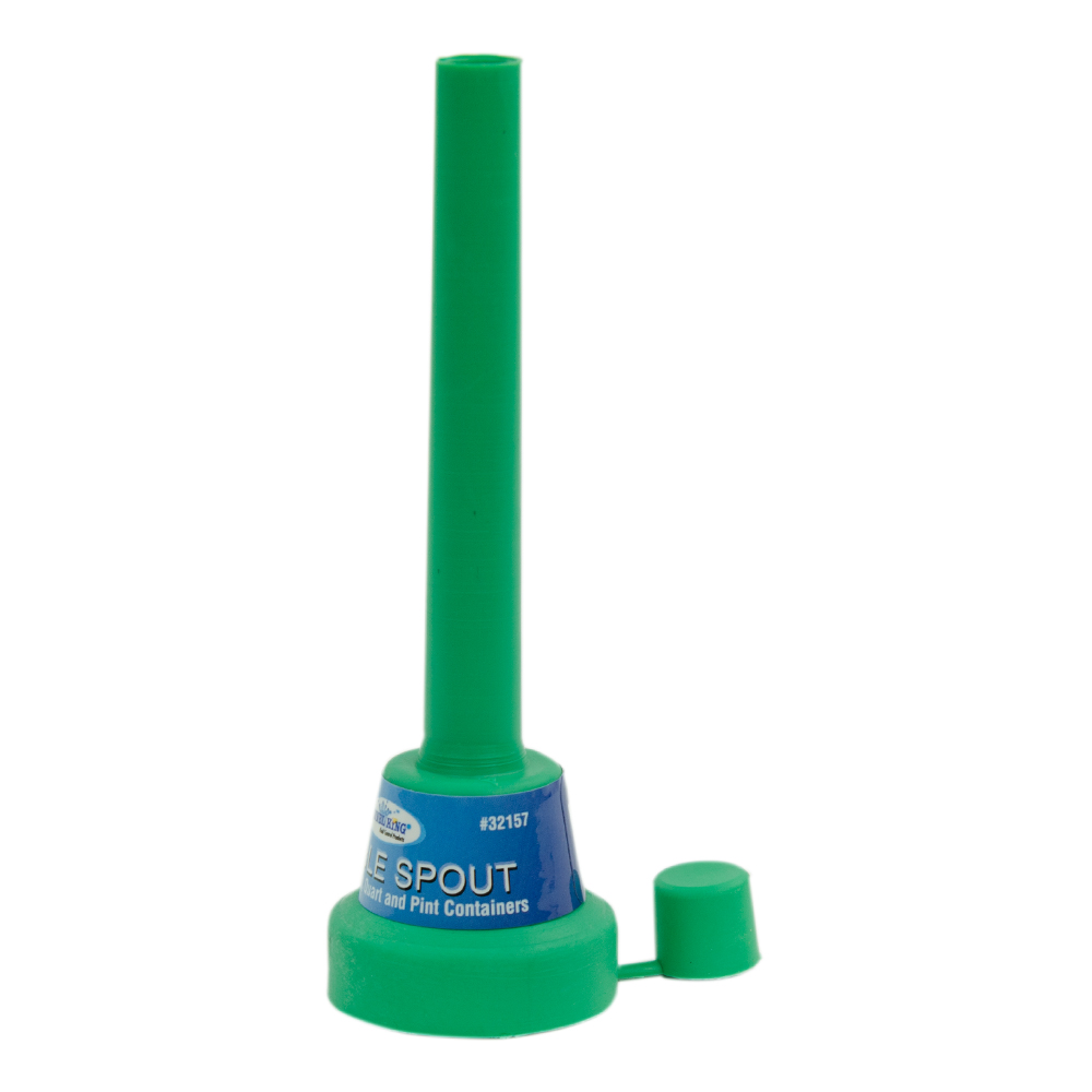 """5"""" Green Flexible Spout Funnel with Cap"""