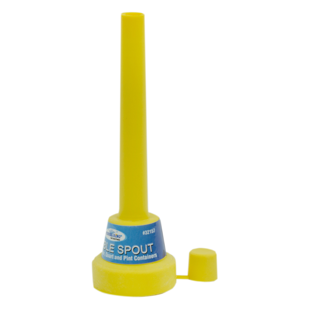 """5"""" Yellow Flexible Spout Funnel with Cap"""