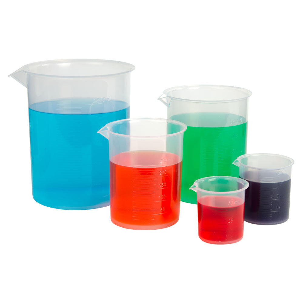 Polypropylene Graduated Beaker Set