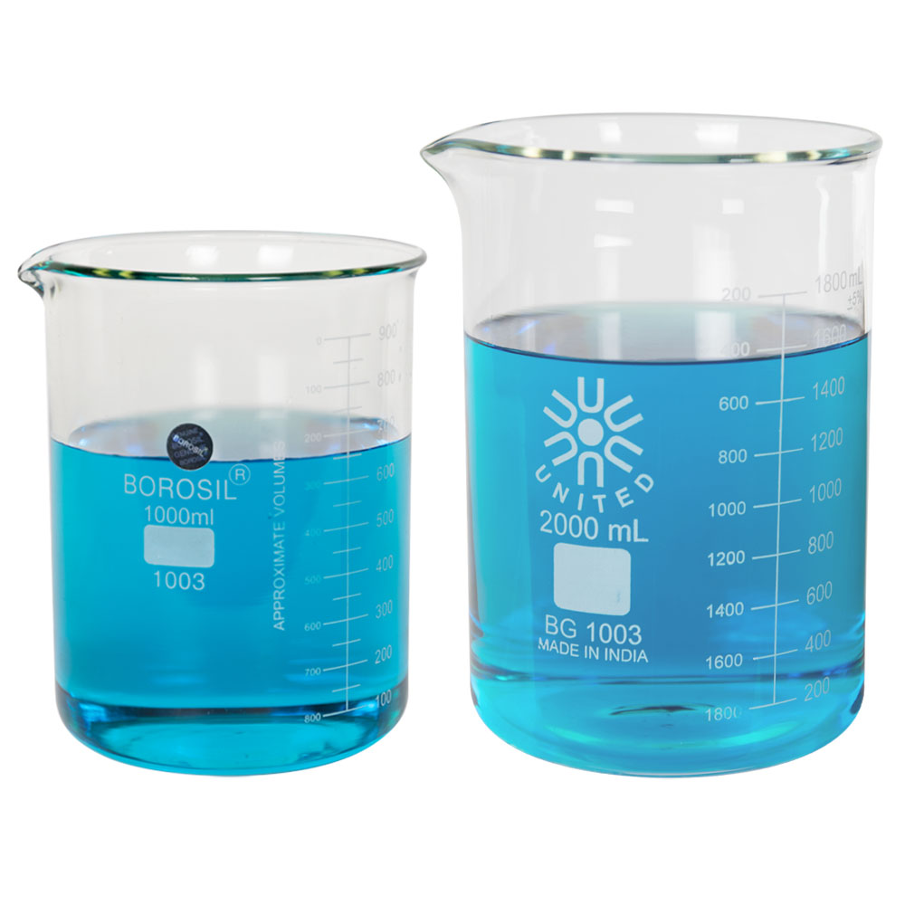 Low Form Heavy Duty Glass Beakers