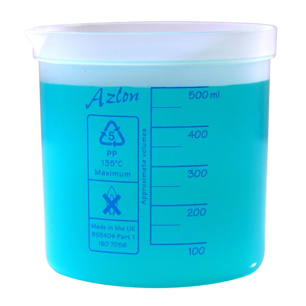 500mL Azlon® Polypropylene Square Ratio Beakers