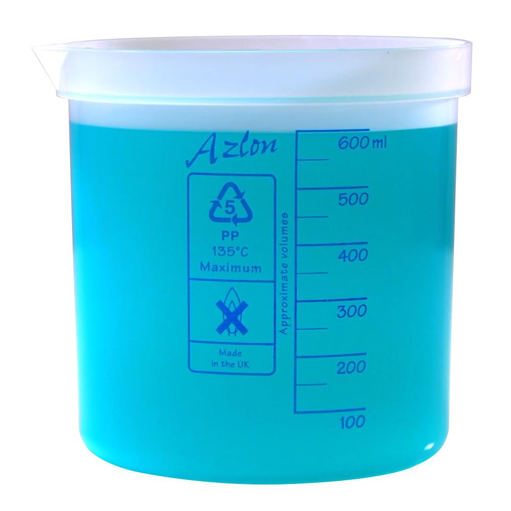 600mL Azlon® Polypropylene Square Ratio Beakers
