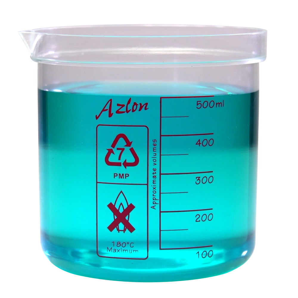 500mL Azlon® PMP Square Ratio Beakers