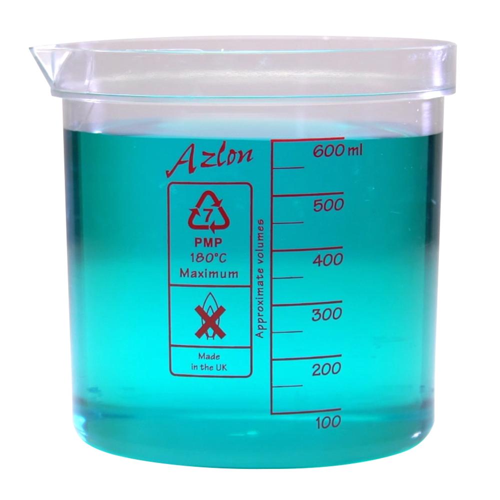 600mL Azlon® PMP Square Ratio Beakers